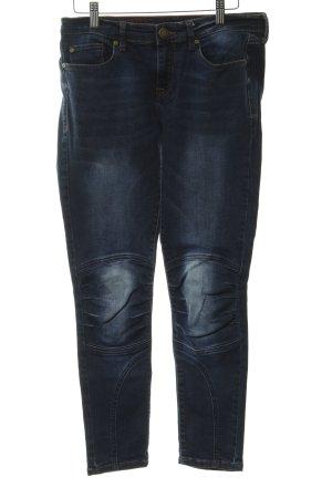Cross Skinny Jeans dark blue flecked casual look