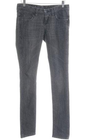 Cross Skinny Jeans grey distressed style