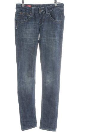 Cross Skinny Jeans slate-gray simple style