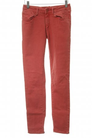 Cross Skinny Jeans bright red extravagant style
