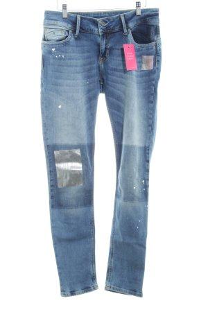 Cross Skinny Jeans stahlblau meliert Street-Fashion-Look