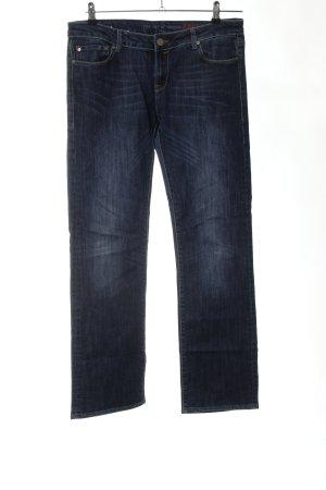 Cross Straight Leg Jeans blue casual look