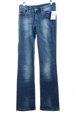 Cross Straight-Leg Jeans blau Casual-Look