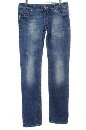Cross Straight-Leg Jeans blau Washed-Optik