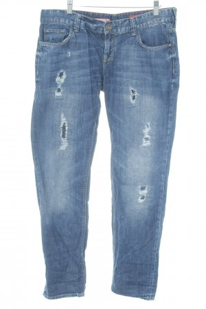 Cross Straight-Leg Jeans dunkelblau Dandy-Look