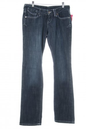 Cross Straight-Leg Jeans dunkelblau Jeans-Optik