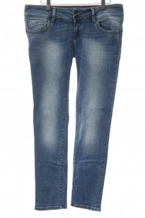 Cross Straight-Leg Jeans kornblumenblau meliert Casual-Look