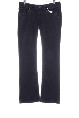 Cross Straight-Leg Jeans schwarz Casual-Look