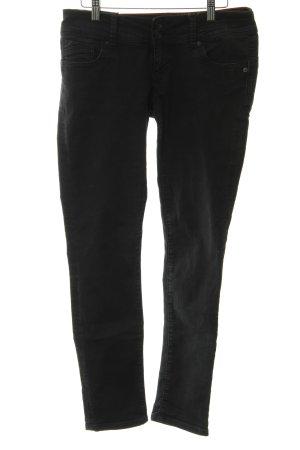 Cross Straight-Leg Jeans schwarz meliert Casual-Look
