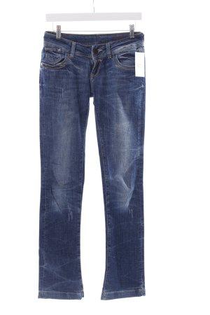 Cross Straight-Leg Jeans stahlblau Casual-Look