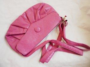 Shoulder Bag neon pink imitation leather