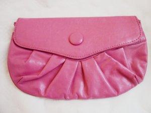Crossbody Ledertasche Vintage Umhängetasche pinke Ledertasche