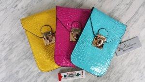 Crossbody Umhänge Handy Mini Taschen  pink gelb türkis