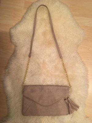 Crossbodybag in taupe mit gold