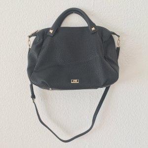 Cavalli Handbag black-gold-colored imitation leather