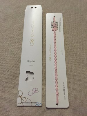 Necklace light pink-dusky pink