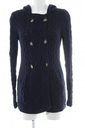 Crumpet Cardigan tricotés bleu foncé style décontracté