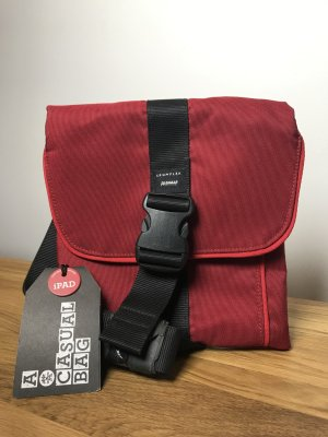 Basket Bag dark red-black nylon