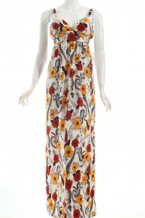 Crystal Candy Maxi Dress natural white-orange floral pattern beach look