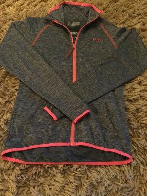 Sweat Jacket grey-bright red