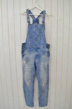 CUBUS Damen Latzhose Latzjeans Jeans Latz Blau Used Mod. JAMIE Relaxed Fit Gr.38