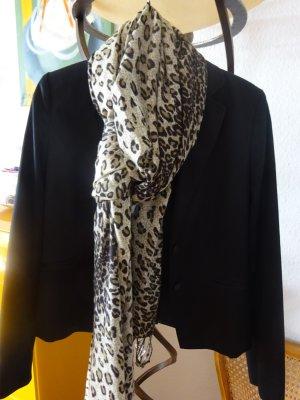 Cubus Bufanda de flecos negro-marrón
