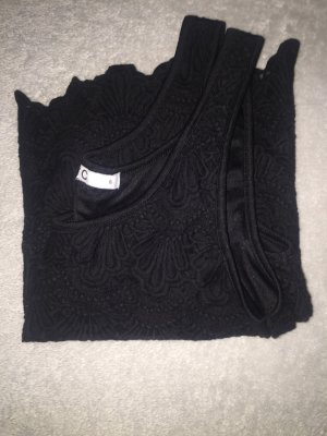 Cubus Spitzen Top in schwarz