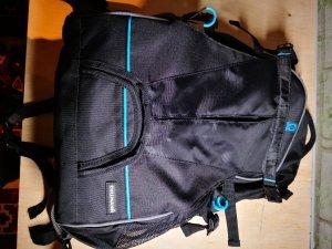 Sac à dos de randonnée noir-bleuet fibre synthétique