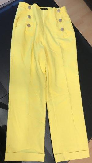 Zara Pantalone culotte giallo
