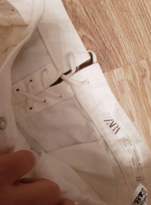 Zara Knit Pantalone culotte bianco