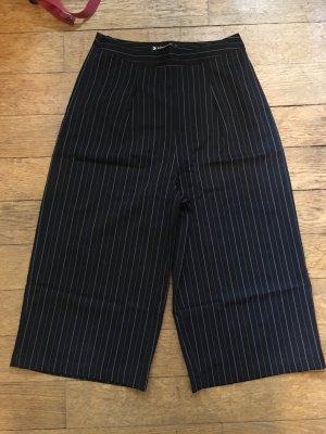 Pantalone culotte nero-bianco