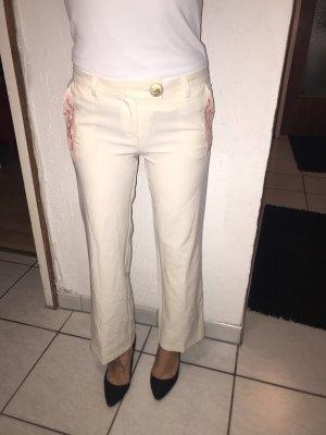 Pantalone culotte crema-rosa chiaro