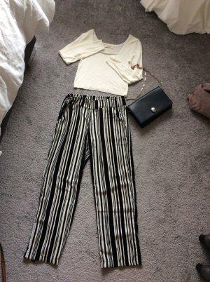 Takko Pantalone culotte nero-bianco