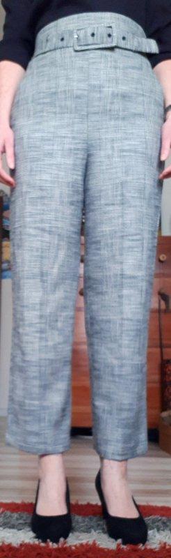 Zara Pantalone culotte bianco-nero Viscosa