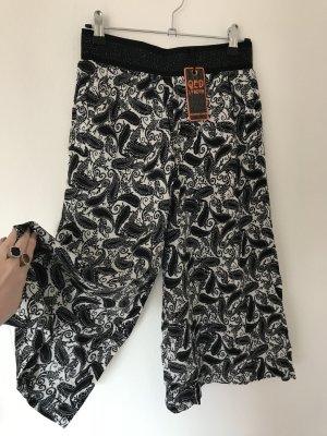QED London Pantalone culotte bianco-nero