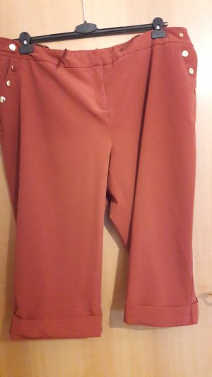 Culotte in rostrot/orange