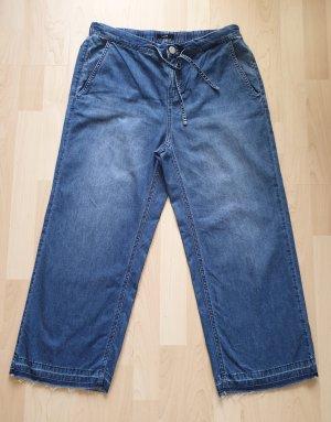 Culotte-Jeans von Opus * Gr.40 * used-Style * Fransen