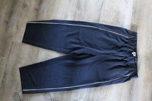 Weekday Pantalone culotte blu scuro-bianco