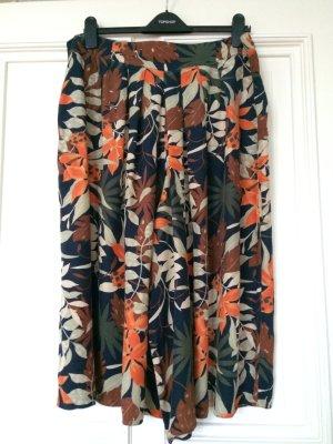Culotte Vintage Blumenprint Aloha Tropical Trend Palazzo Stoffhose
