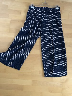 Michael Kors Pantalone culotte blu scuro-bianco