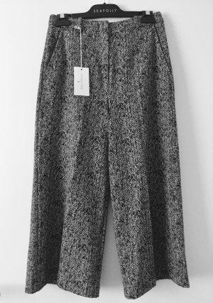 Patrizia Pepe Pantalone culotte bianco-nero Acetato