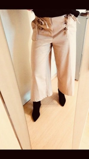 Zara Pantalone culotte beige