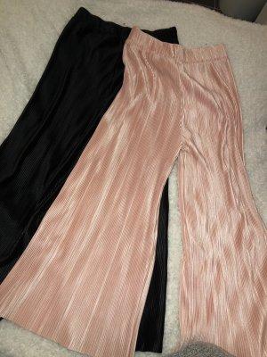 Pantalone culotte nero-rosa pallido