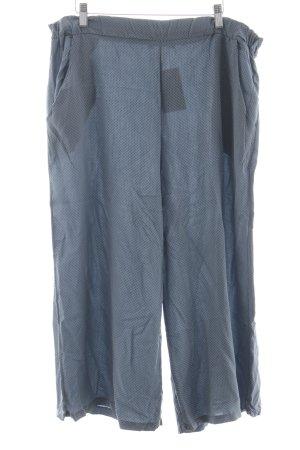 Culottes graublau-blassblau Allover-Druck Beach-Look