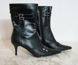 Laarzen met hak zwart Synthetisch