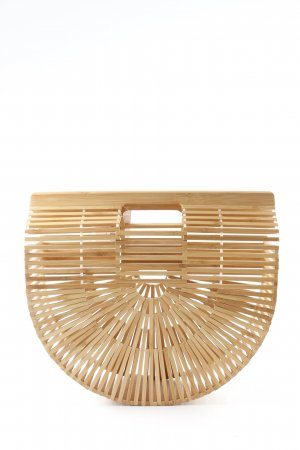 Cult Gaia Basket Bag light brown extravagant style
