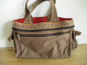 Carry Bag brown red denim