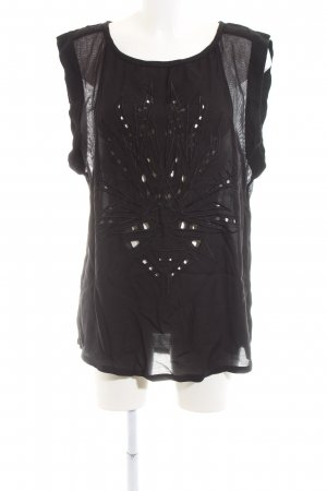 Culture Sleeveless Blouse black casual look