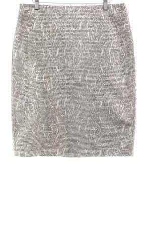 Culture Bleistiftrock silberfarben-schwarz abstraktes Muster Elegant