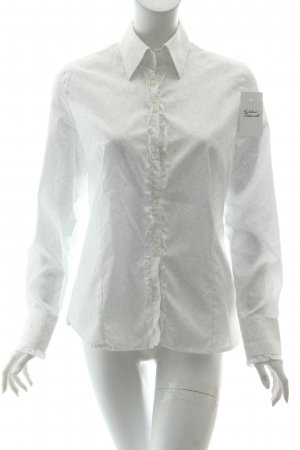 Culture Bluse wollweiß-hellgrau Blumenmuster Business-Look